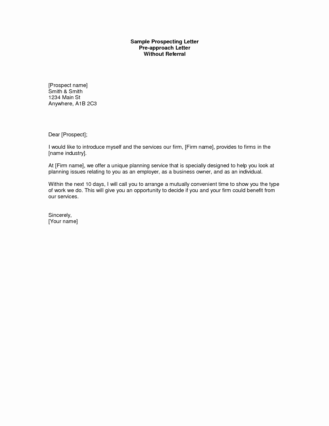 Commercial Real Estate Prospecting Letter Template - Real Estate Prospecting Letters Samples Beautiful Prospecting Letter