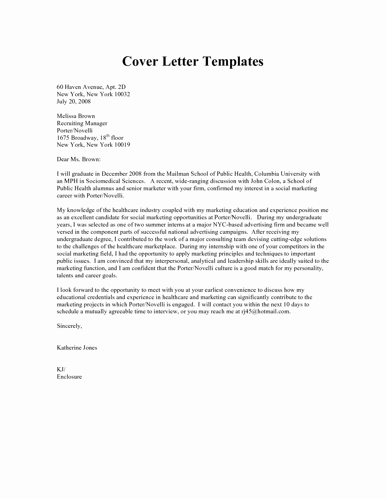 Recruitment Letter Template - Recruitment Consultant Cover Letter Example Unique Od Consultant
