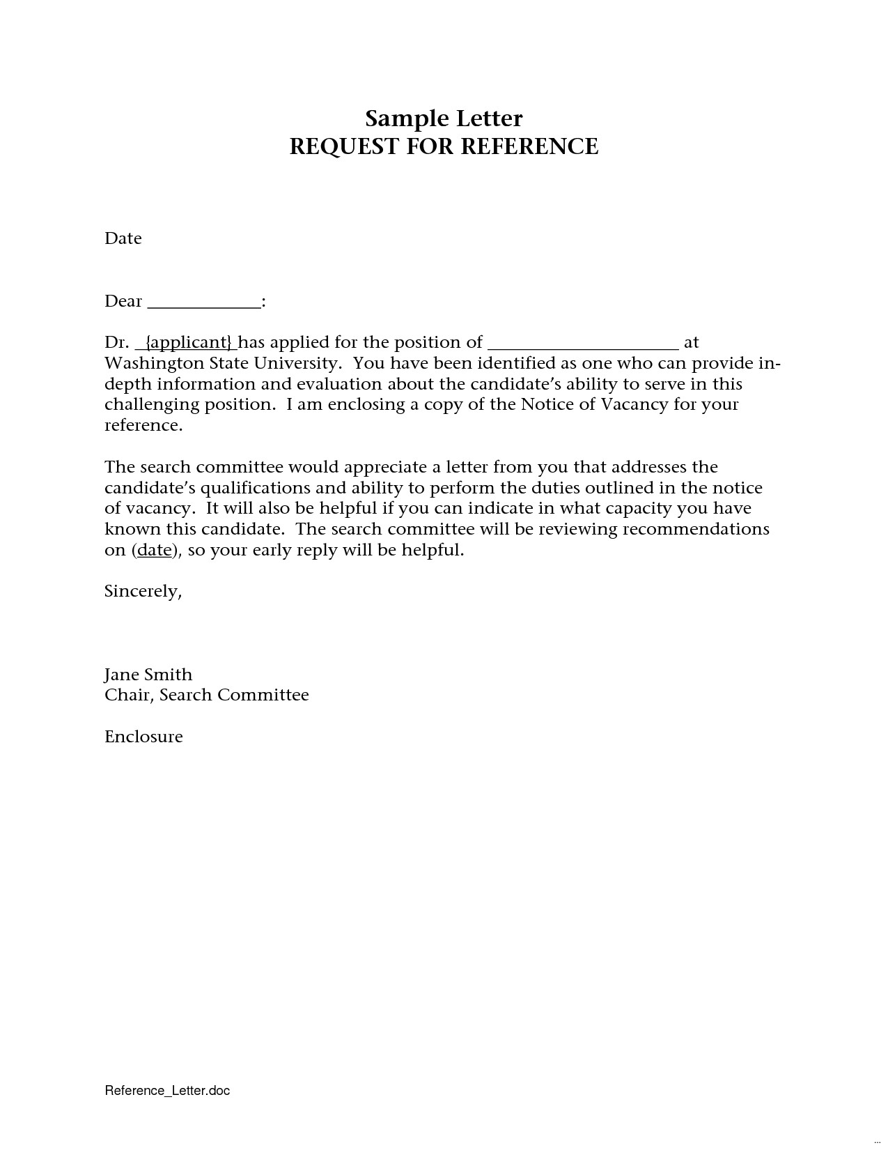 Letter Of Recommendation Request Template - Referee Request Email Sample Best Sample Reference Request Letter