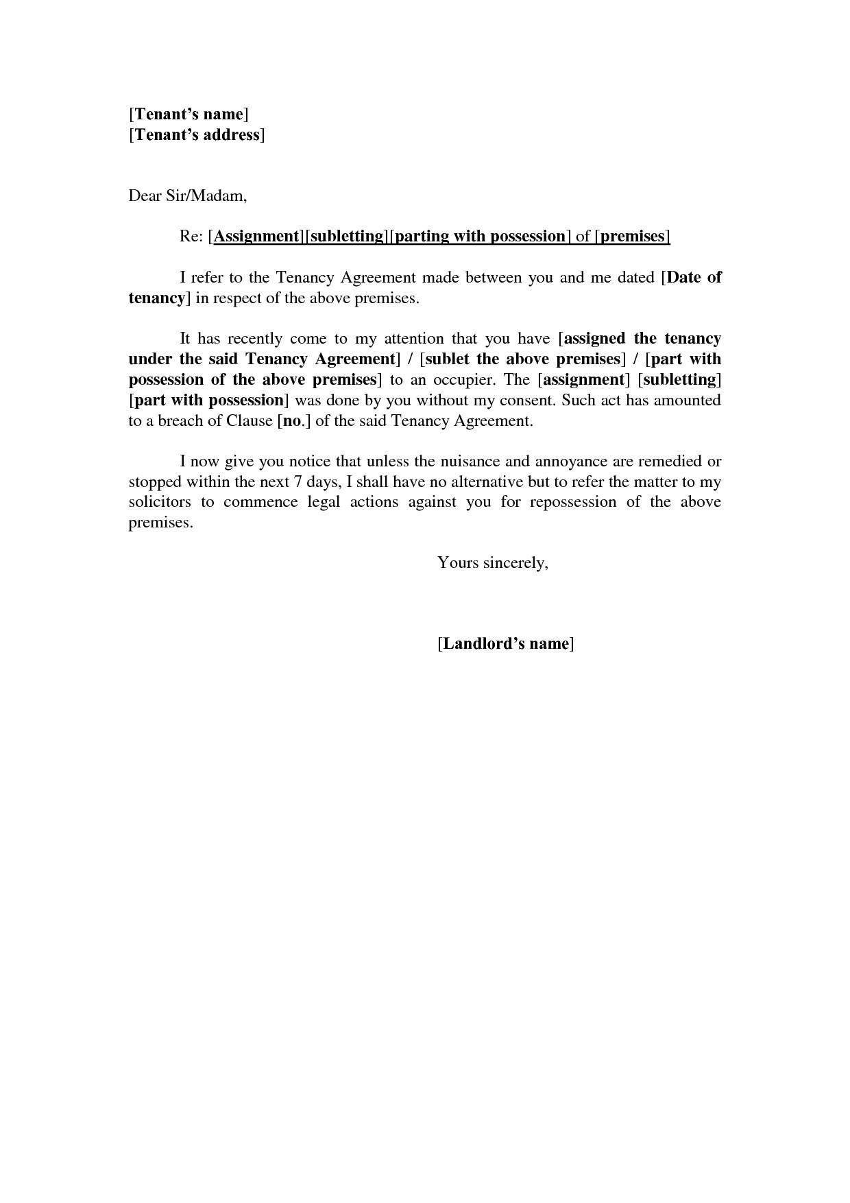 Tenant Reference Letter Template - Reference Letter From Landlord Template