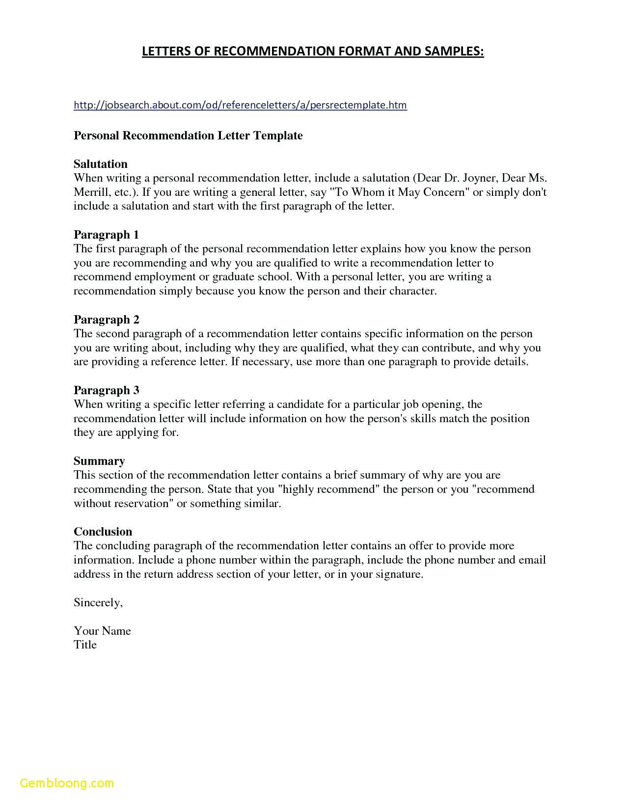 Reference Letter format Template - Reference Page Template for Resume Best References for Resume