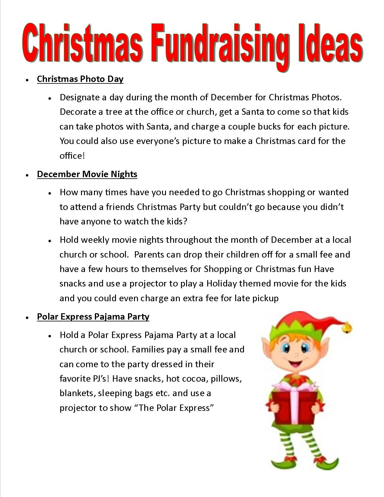 Christmas Party Donation Letter Template - Relay for Life Christmas Fundraising Ideas