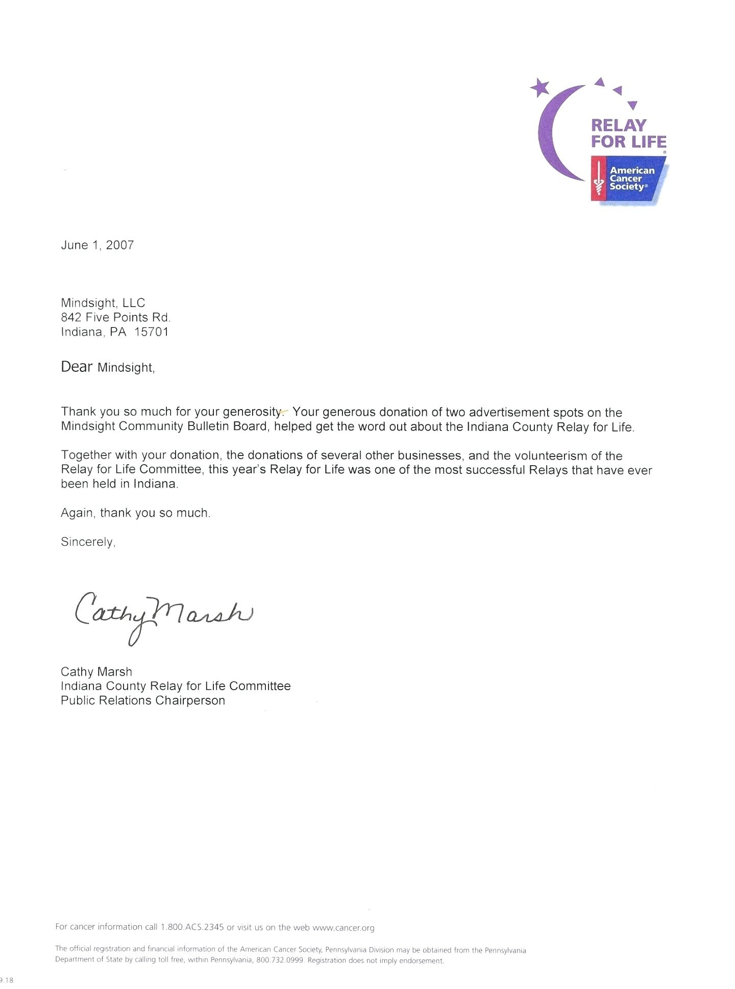 relay for life donation letter template example-Relay For Life Donation Letter Seven 13-p