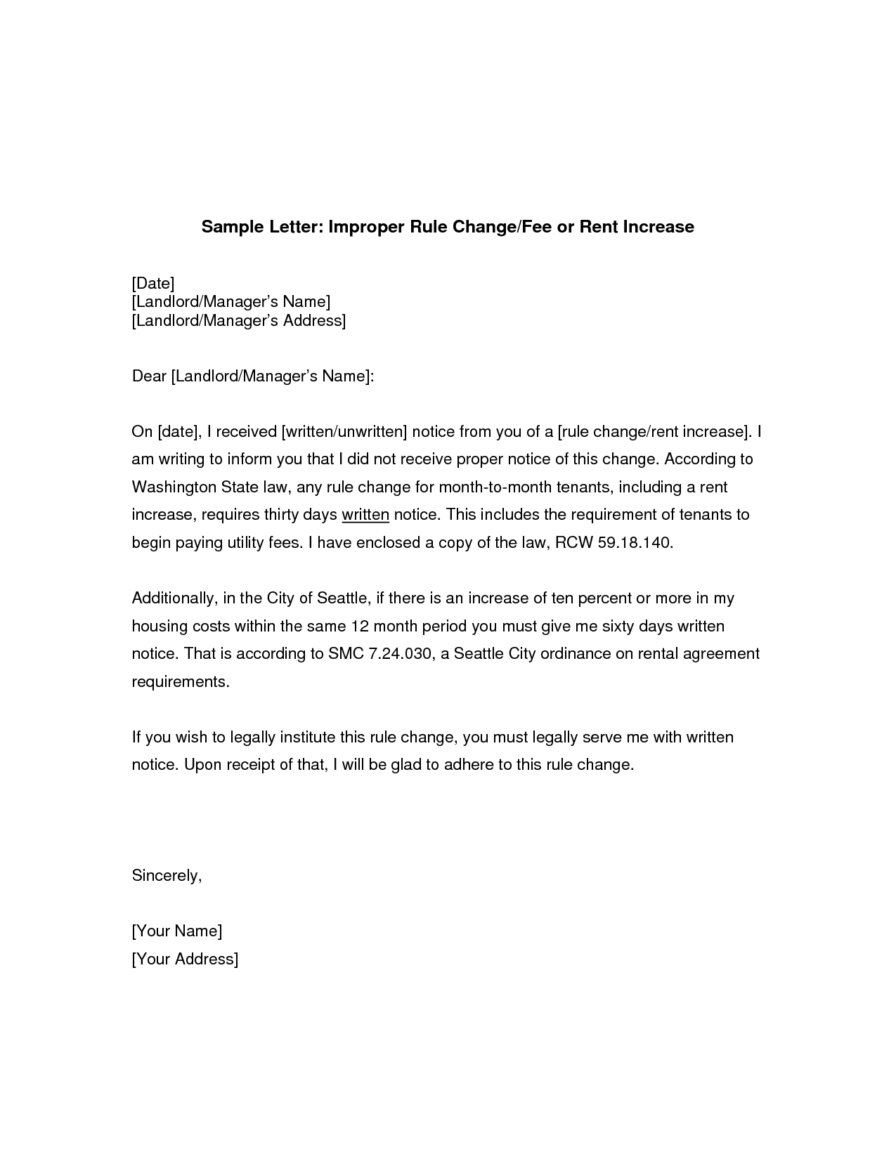 rent renewal letter template Collection-rent increase sample letter 12-g