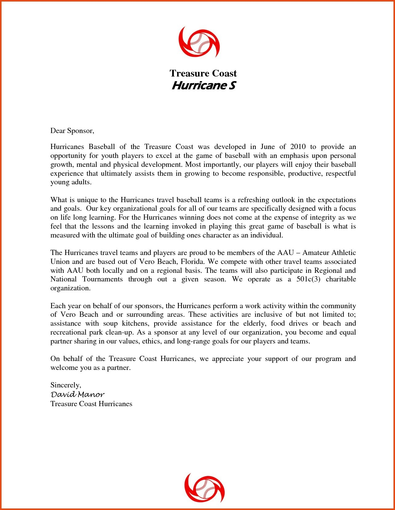 Youth Baseball Sponsorship Letter Template - Request Letter format for Endorsement Fresh Sample Sponsorship