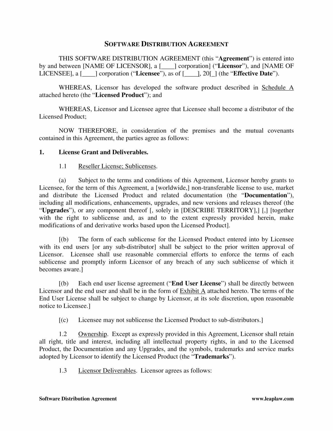 Termination Letter Template Free - Reseller Agreement Template Samples