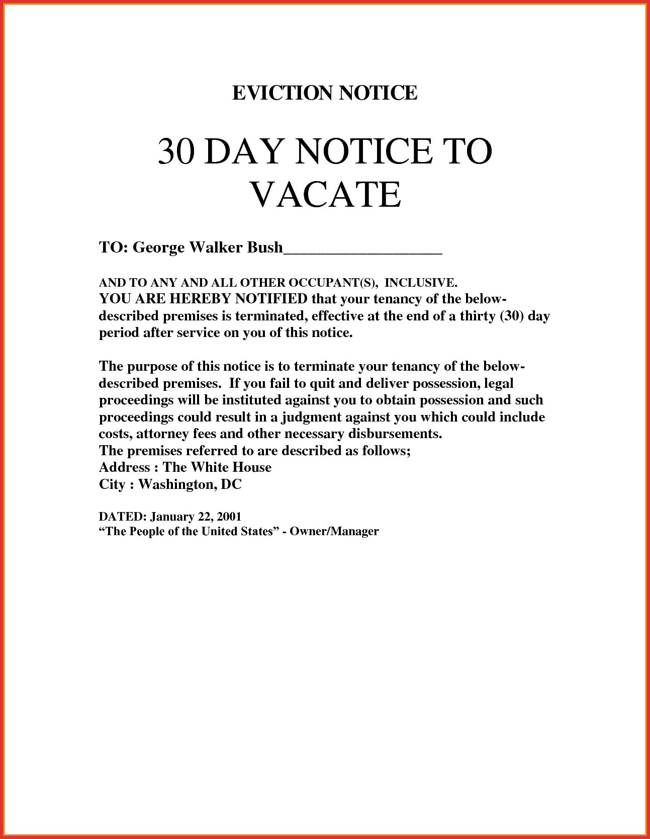 Eviction Warning Letter Template - Resignation Letter Days Notice Day to Vacate Sample Best Eviction