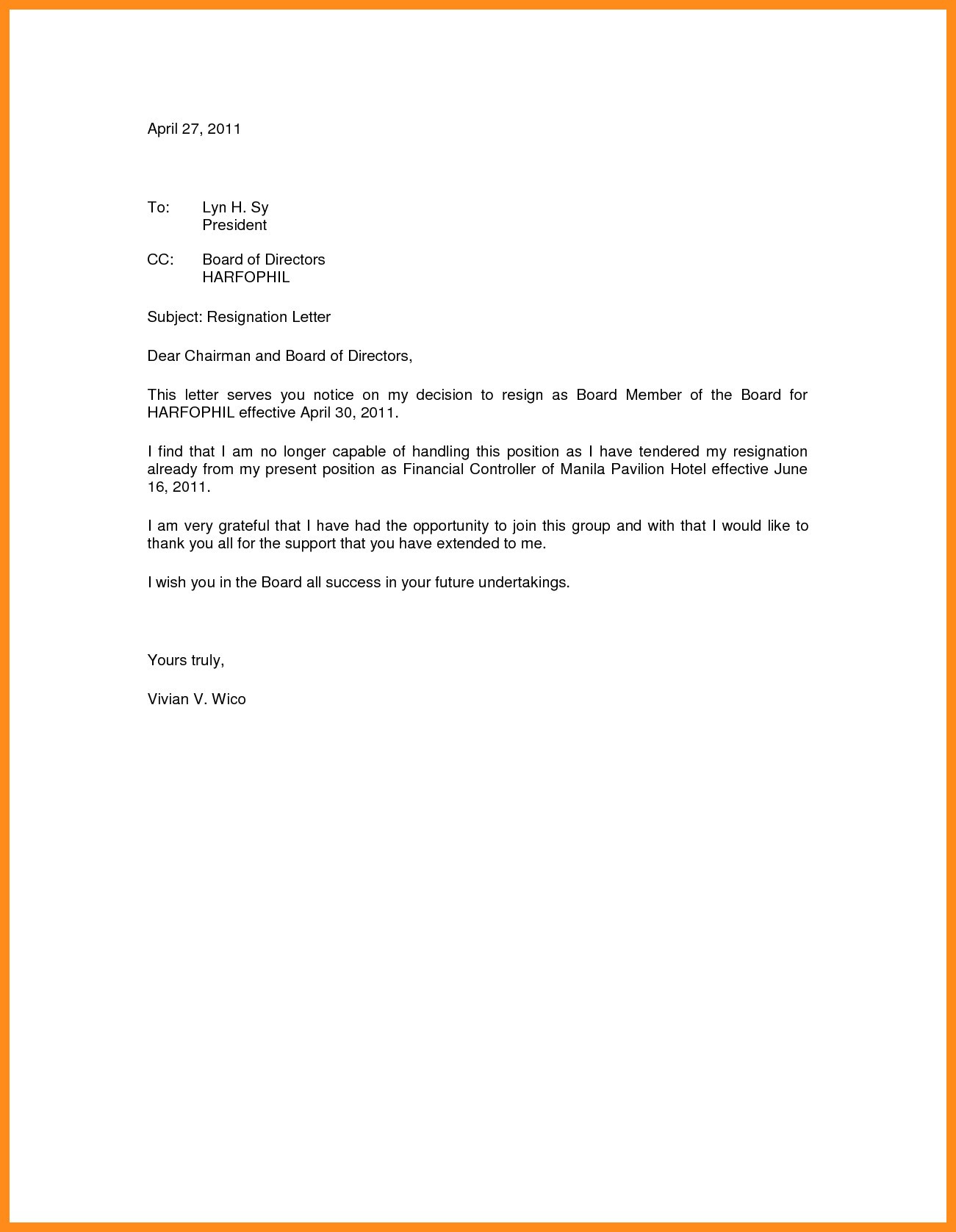 New Board Member orientation Welcome Letter Template - Resignation Letter From A Board Sarahepps