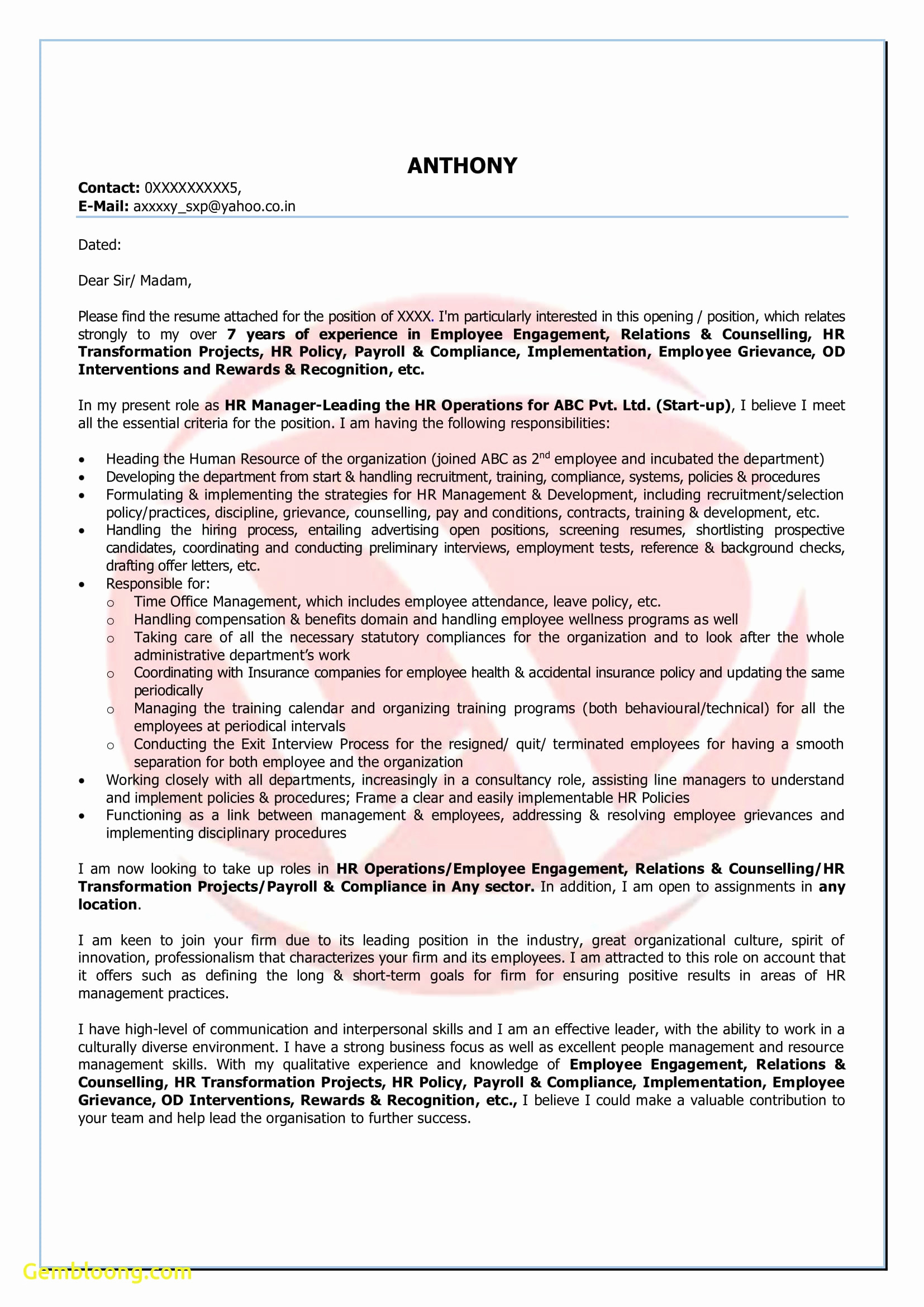 It Cover Letter Template Word - Resume Cover Letter Template Word Beautiful Free Resume Word format