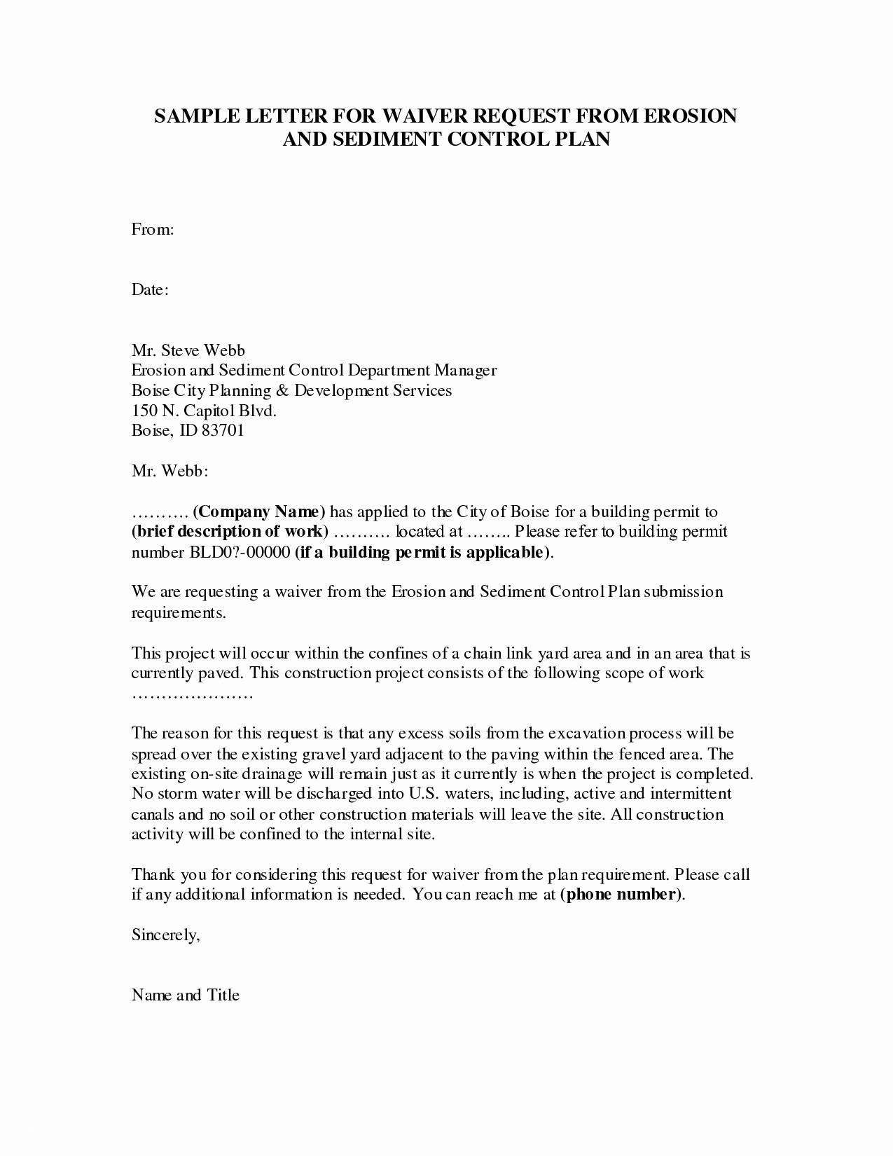 waiver letter template Collection-Resume Free Printable Best Waiver Responsibility Template Beautiful Sample Waiver Letter 16-h