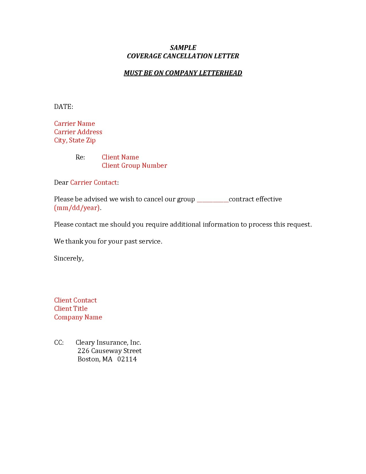 Insurance Policy Cancellation Letter Template - Resume Letter format Archives Page 56 Of 106 Jameskilloran Co