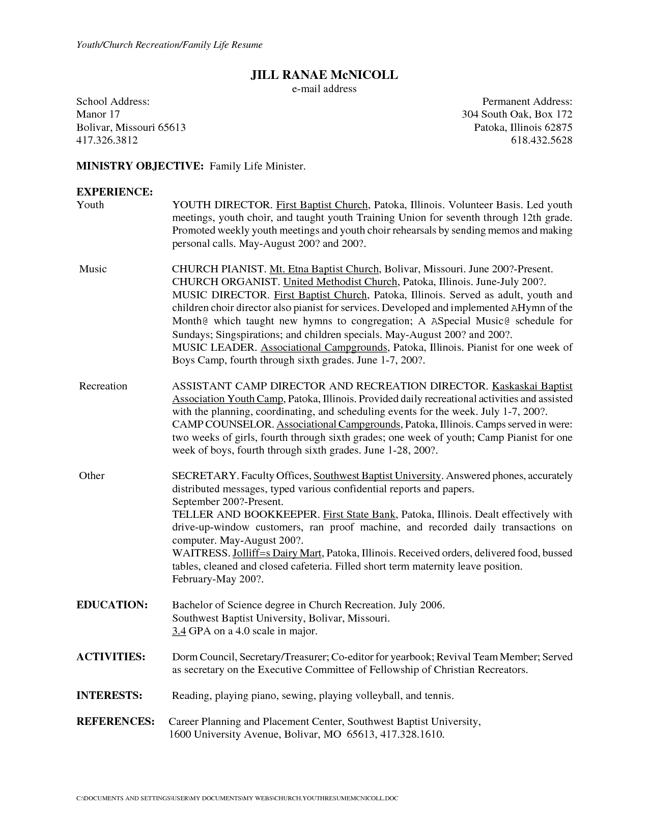 School Secretary Cover Letter Template - Resume Template for Secretary Resume Templates Nursing Unit Clerk