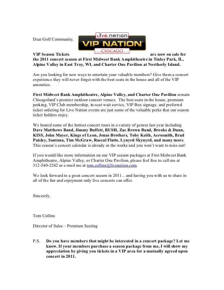 Car Sales Prospecting Letter Template - Sales Prospecting Letter to Golf Clubs 2011