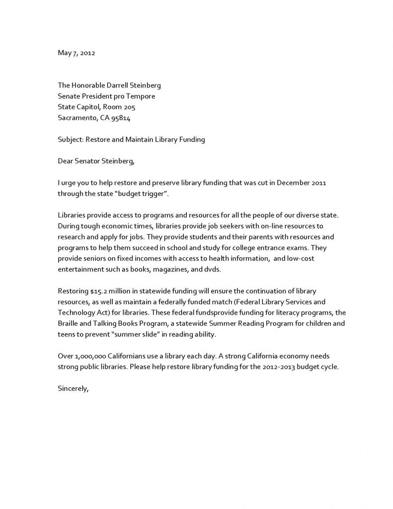 Letter to Senator Template - Sample Advocacy Letter Save Parent Meeting Letters Data Tec