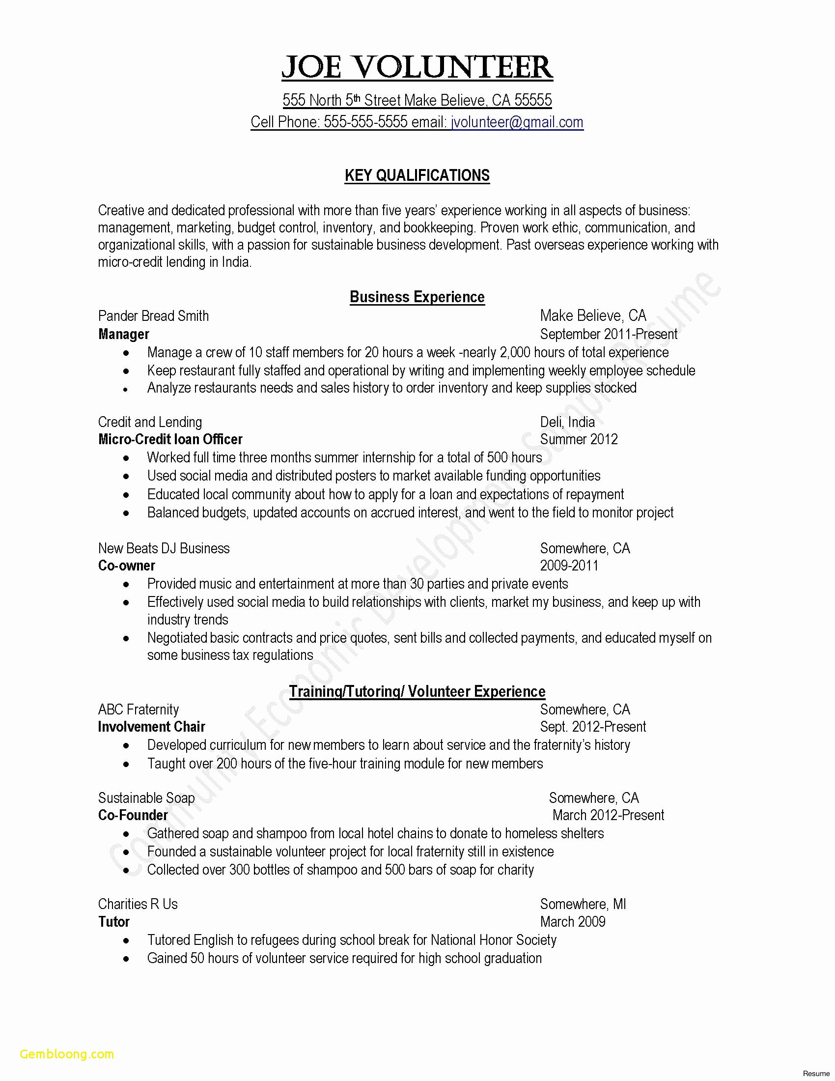 Letter Of Employment Template - Sample Basic Resume Fresh Basic Resume for Any Job New format Cover