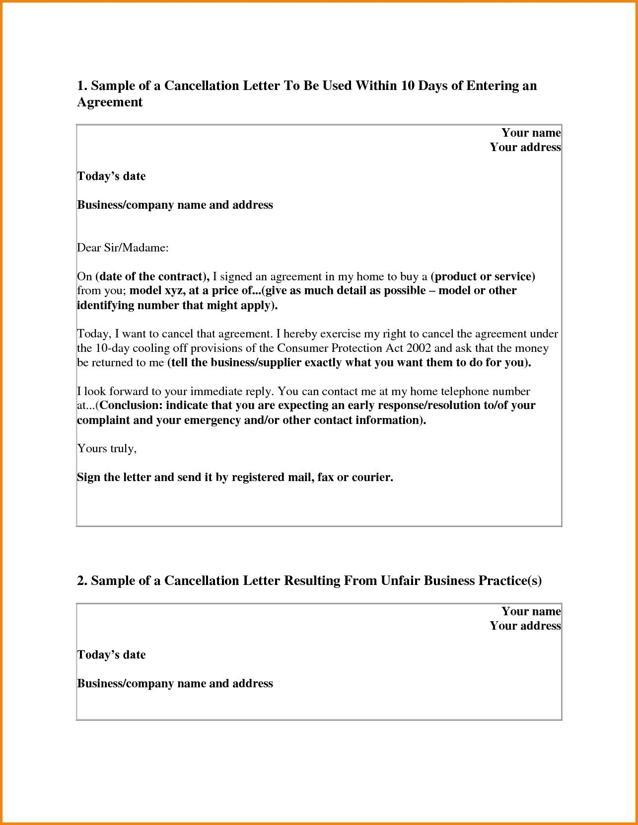 Gym Membership Cancellation Letter Template Free - Sample Cancellation Services Letter Template Best Amazing Gym