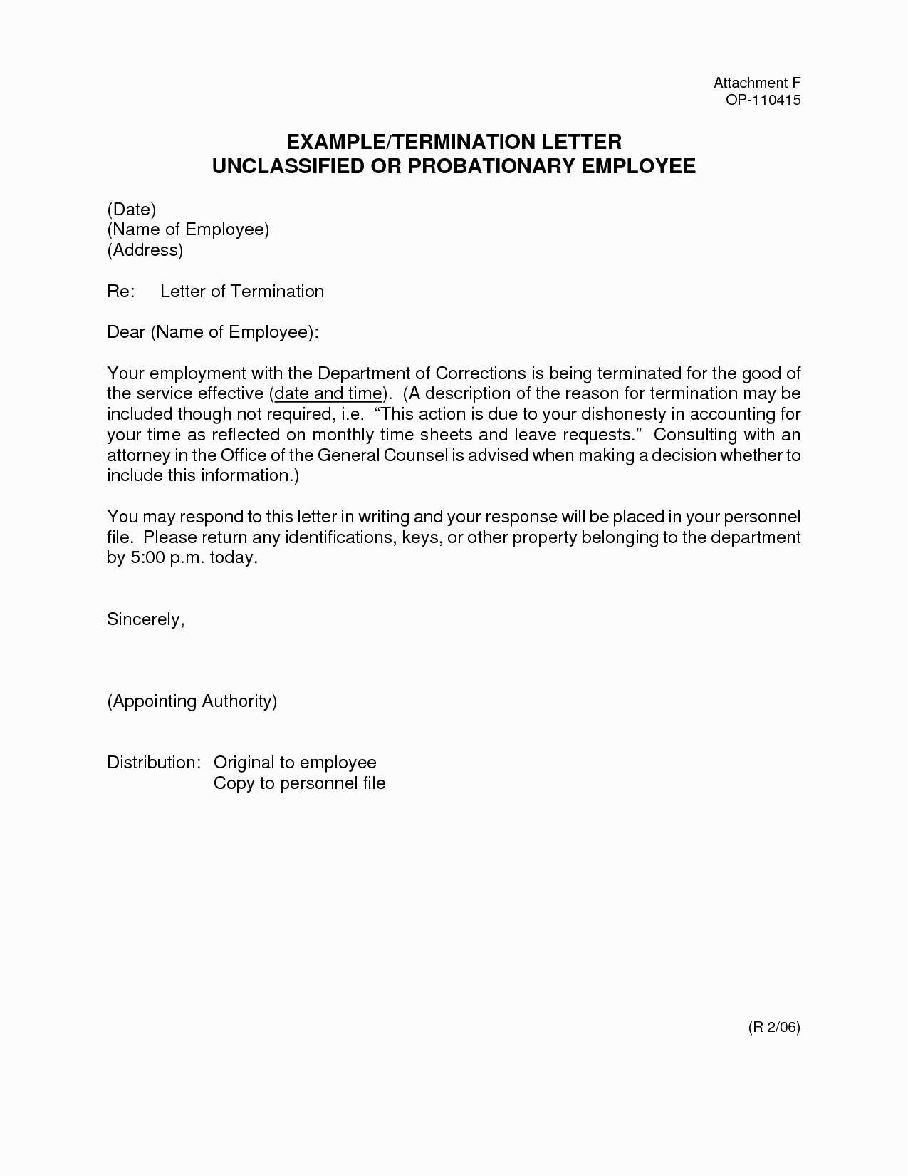 Sample Employee Termination Letter Template - Sample Certificate Employment and Pensation Fresh Employment
