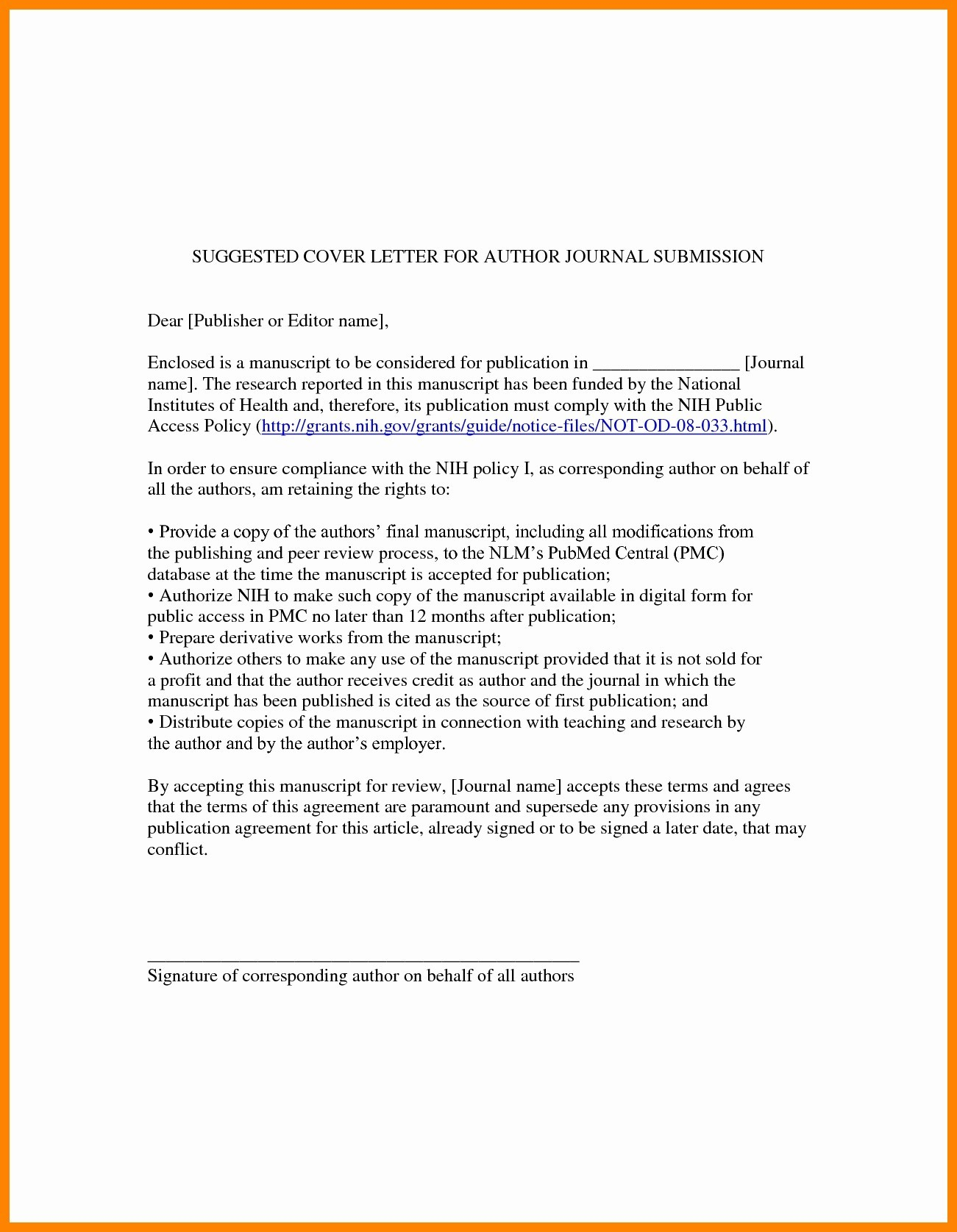Manuscript Cover Letter Template - Sample Cover Letter with No Job Posting Fresh Unique Job Fer Letter