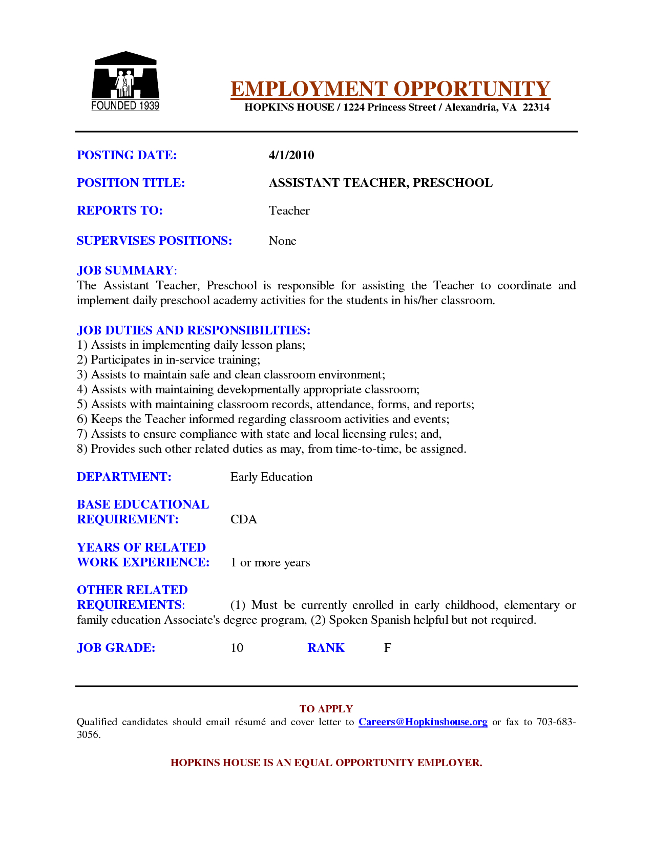 Cover Letter Template for Teaching assistant - Sample Cover Letters for Teachers Samples