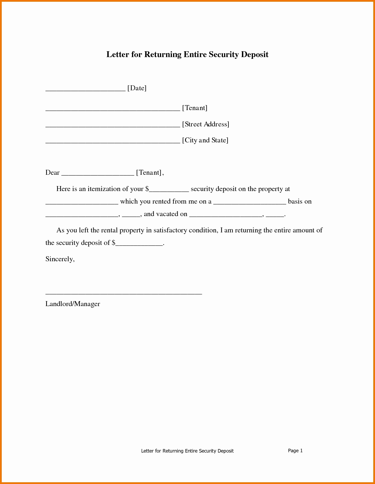 Demand Letter to Landlord Template - Sample Demand Letter for Unpaid Rent Inspirational Security Deposit