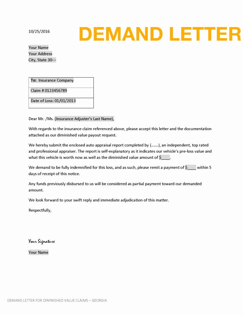 Insurance Demand Letter Template - Sample Demand Letter to Insurance Pany Luxury Debt Collector Job