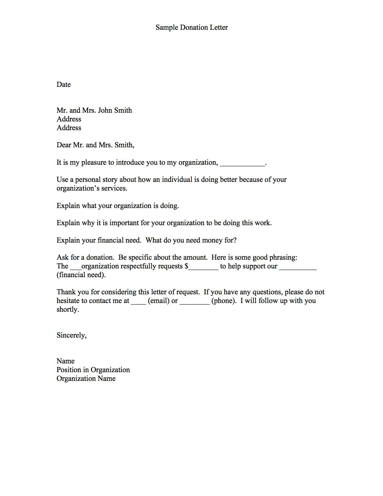 fundraiser request letter template example-Thanks Letter for non profit donation 15-p