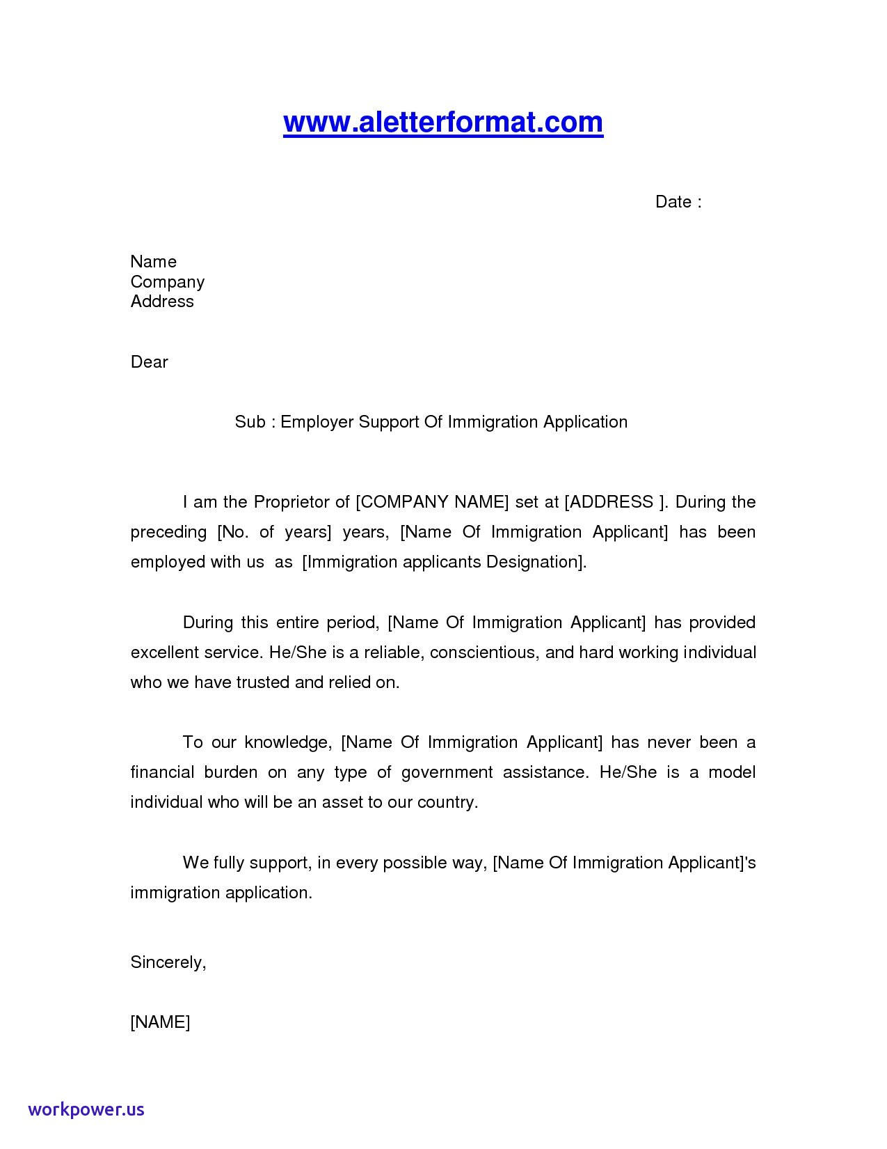 Immigration Reference Letter Template - Sample Immigration Reference Letter for Brother