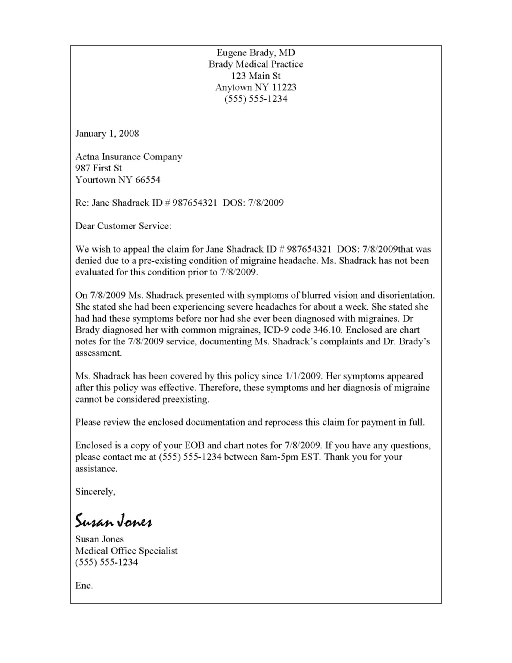 Property Tax Appeal Letter Template - Sample Insurance Appeal Letter for Authorization Best format