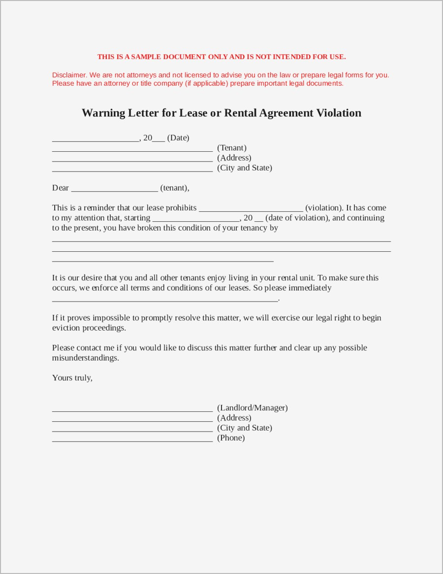Lease Renewal Reminder Letter Template - Sample Letter to Break Lease Samples