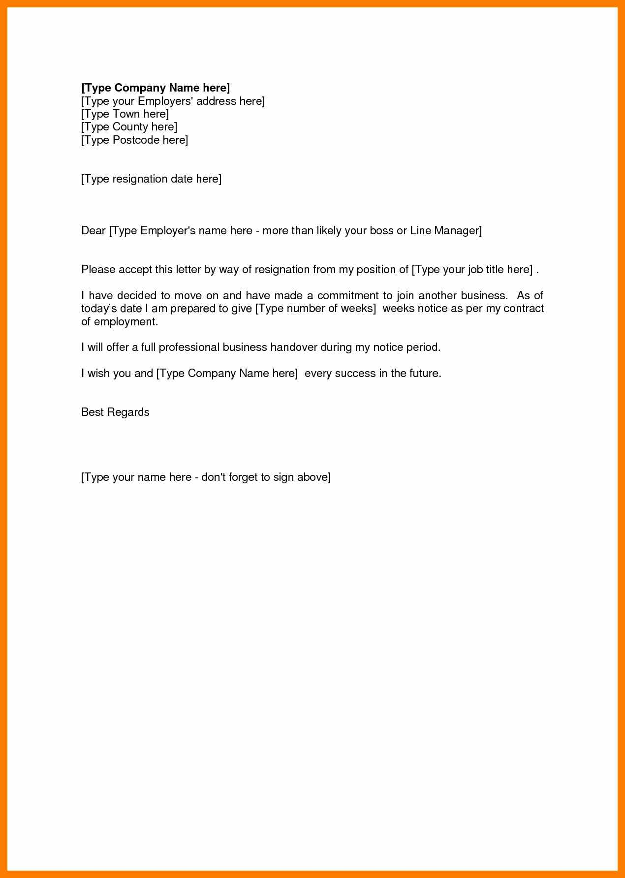 sample resignation letter template collection letter templates
