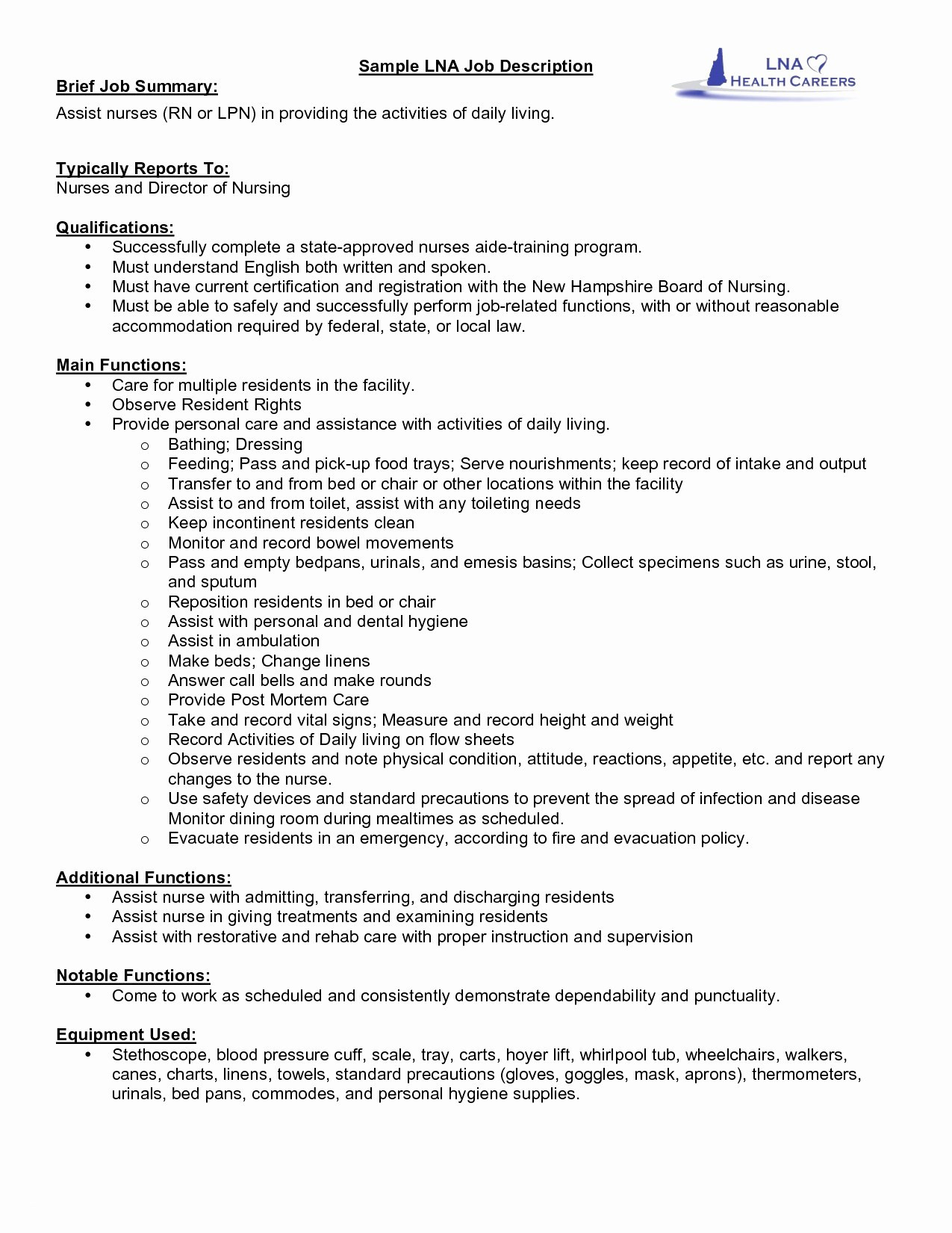 Refinance Letter Template - Sample Nurse Resume with Job Description Personalinjurylovete