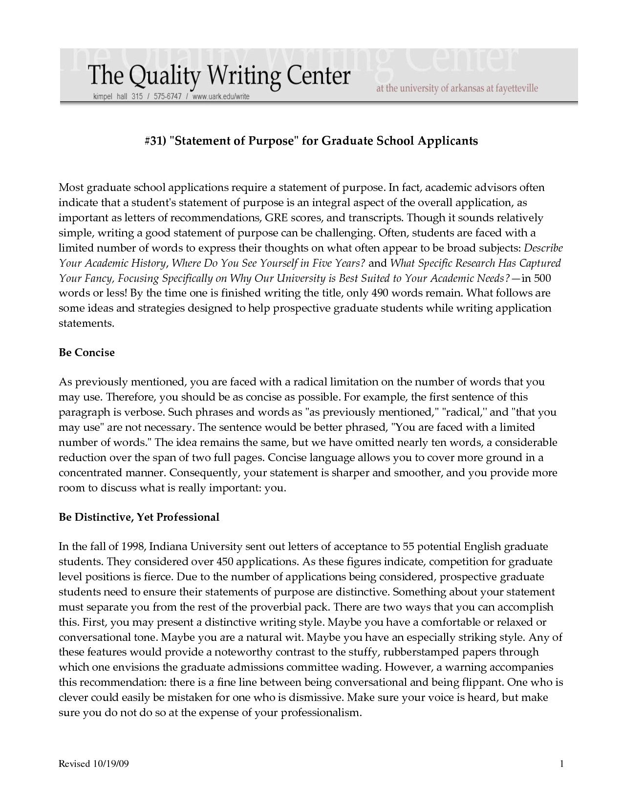 letter of intent template graduate school