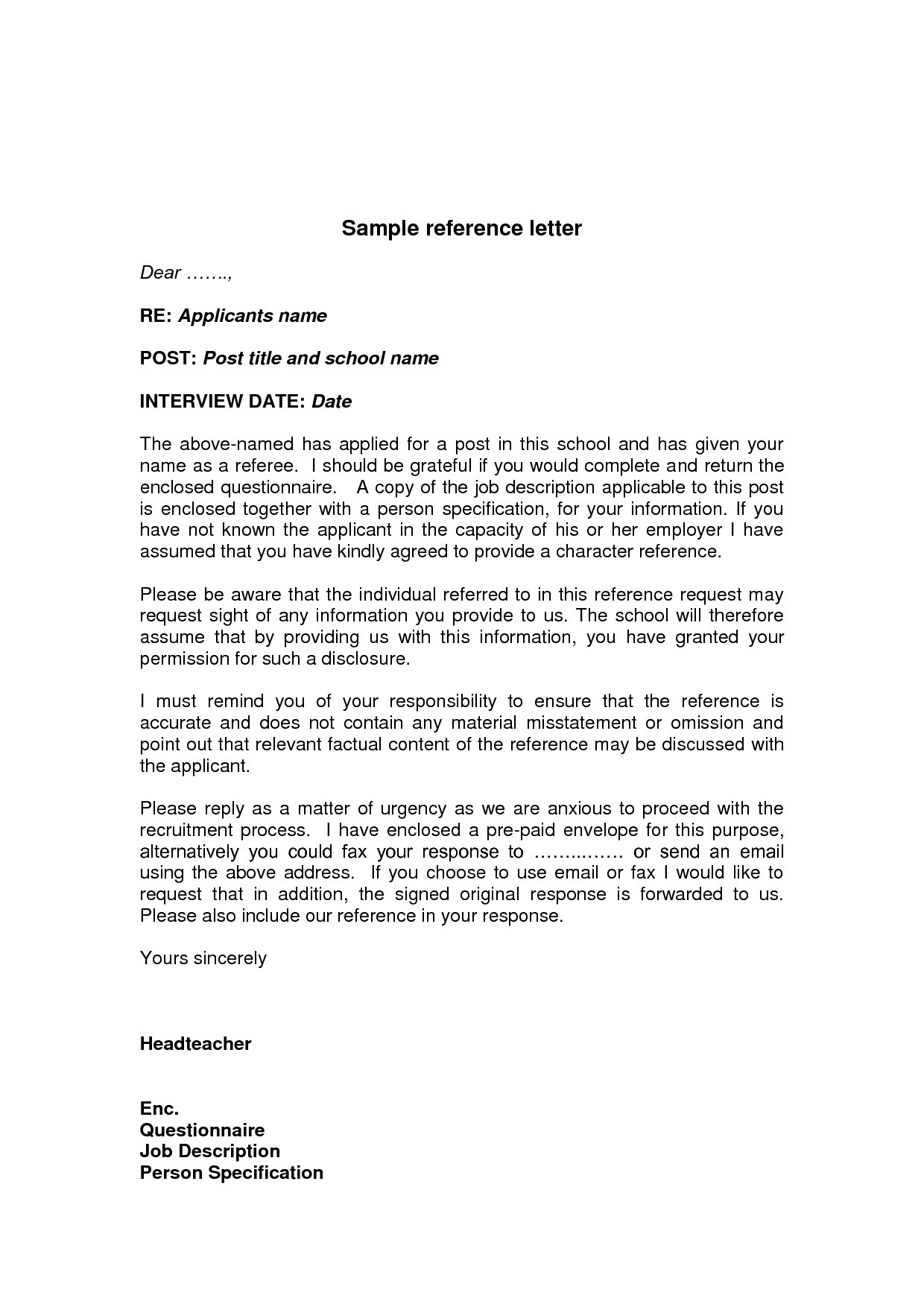 Company Business Reference Letter Template - Sample Personalcharacter Reference Letter Created Using Ms Word