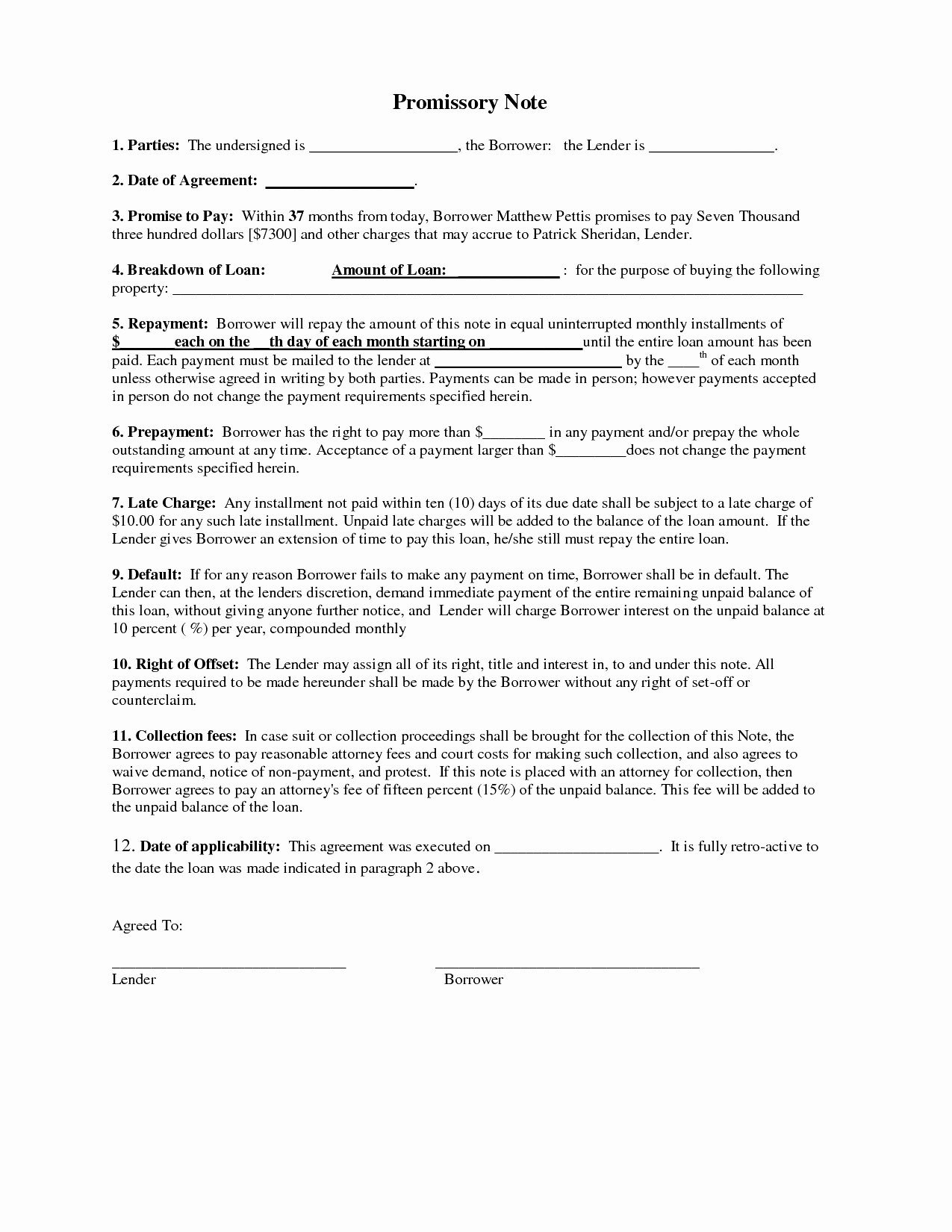 Demand Letter Promissory Note Template - Sample Promissory Note for Business Loan Inspirational Sample