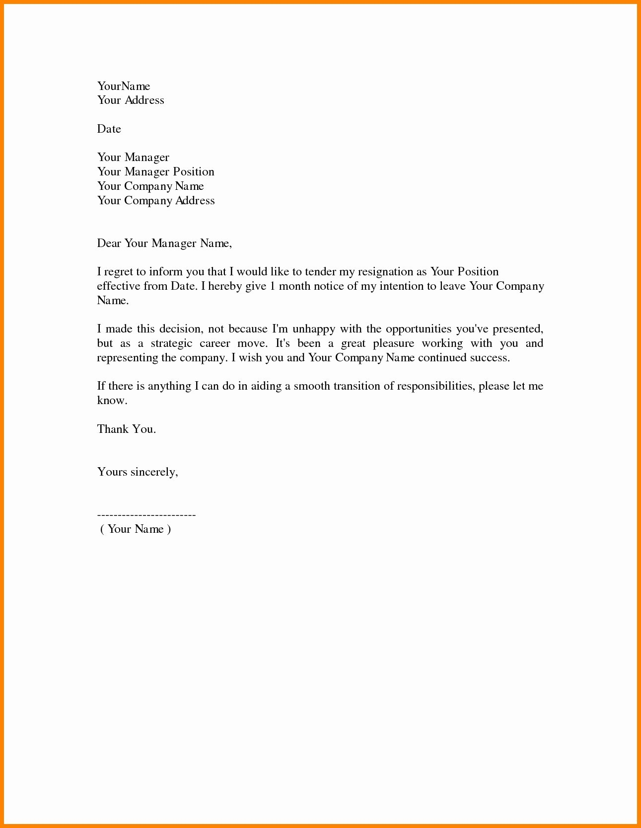 Microsoft Office Resignation Letter Template - Sample Resignation Letter Template Doc Copy Samples Resignation
