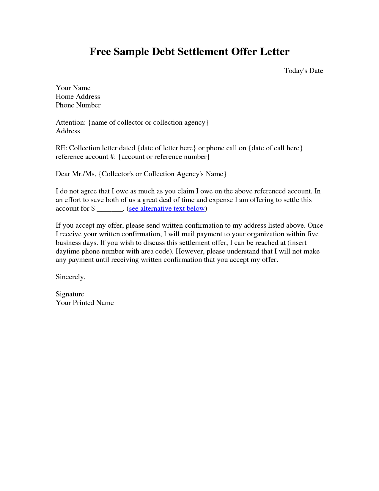 Debt Collection Template Letter Free Collection Letter Templates