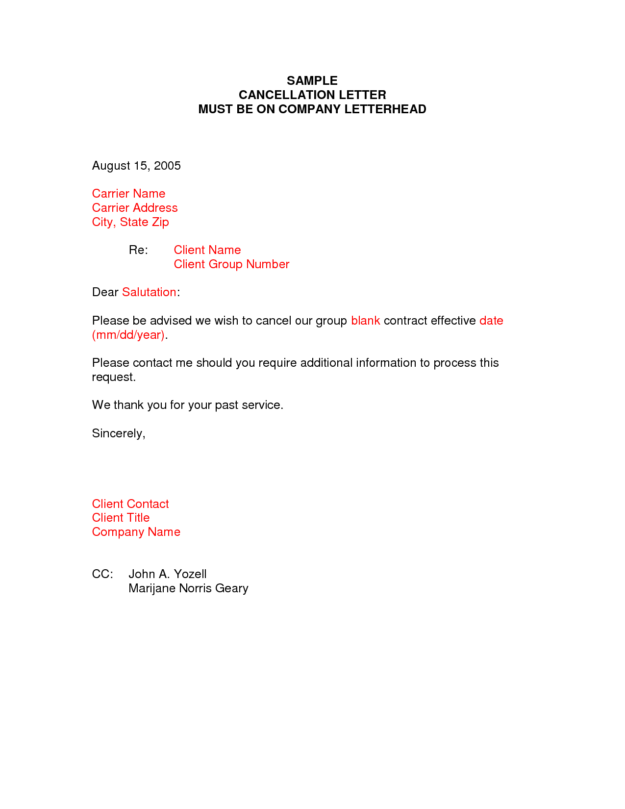 Business termination letter template samples letter templates business termination letter template sample termination letter format business case examples free cover spiritdancerdesigns Image collections