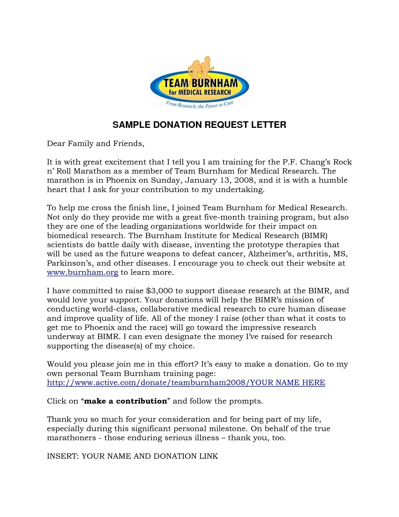 Donation Request Letter Template Samples Letter Templates