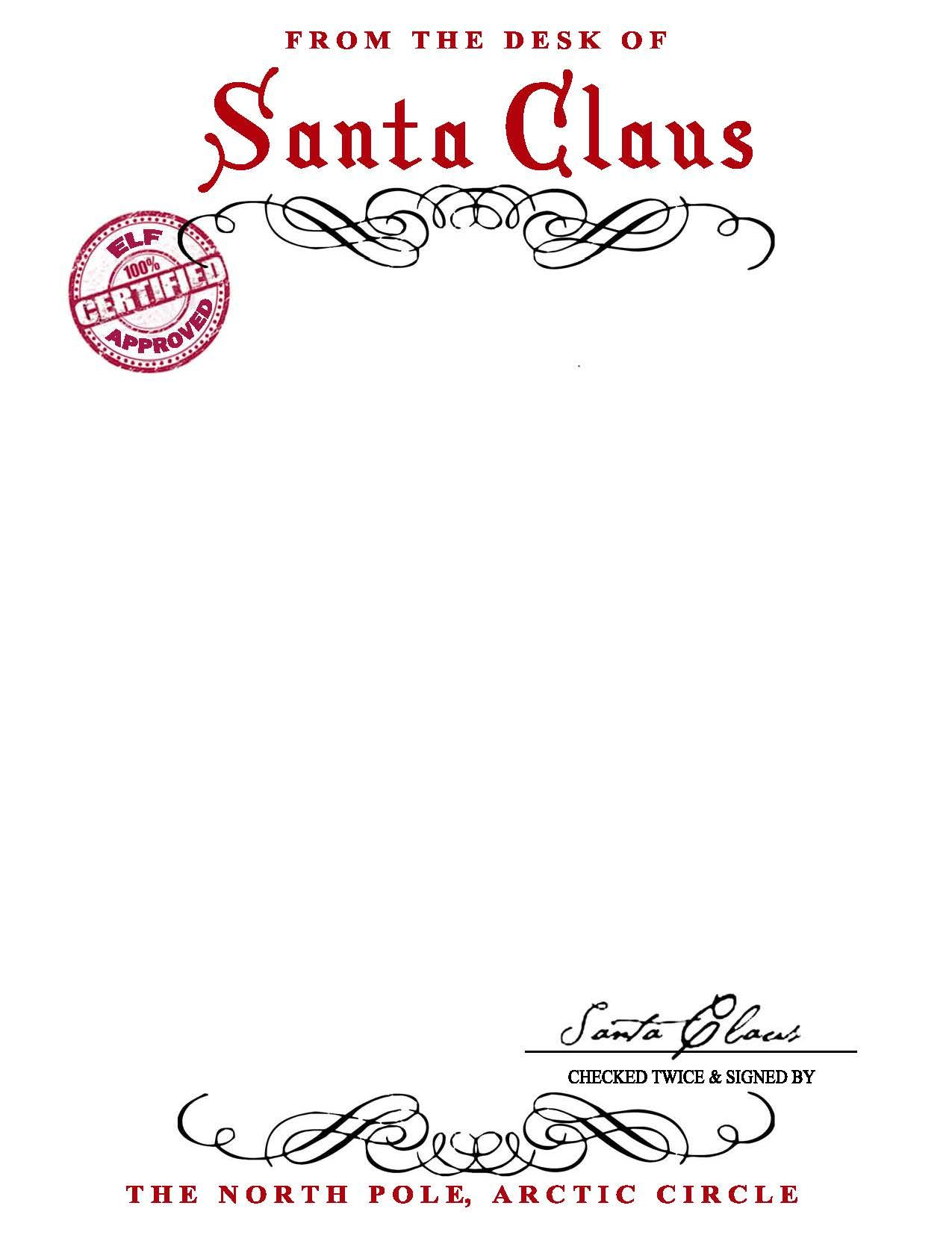 Custom Letter From Santa Template - Santa Claus Letterhead Will Bring Lots Of Joy to Children