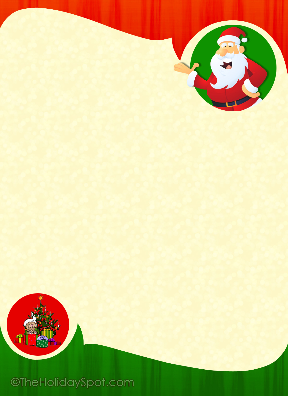 Christmas Letter Background Template Examples | Letter Templates