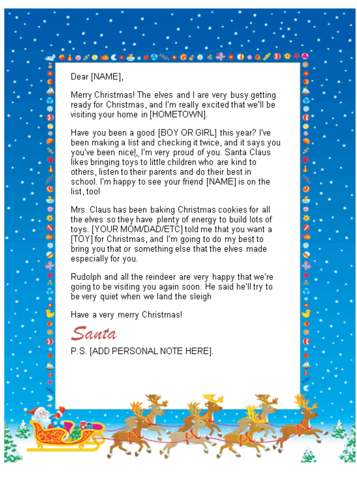 Santa response letter template collection letter templates santa response letter template santa letter template word gallery reference letter template word spiritdancerdesigns Image collections