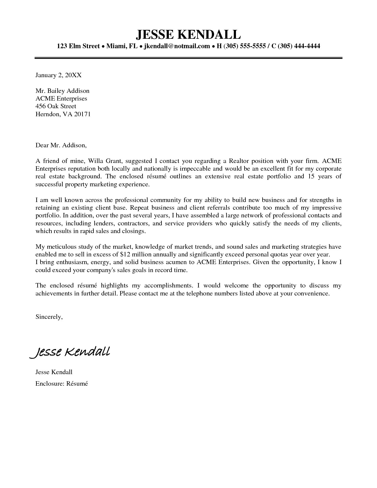 Real Estate Introduction Letter Template - Save Cover Letter Sample for Real Estate Job