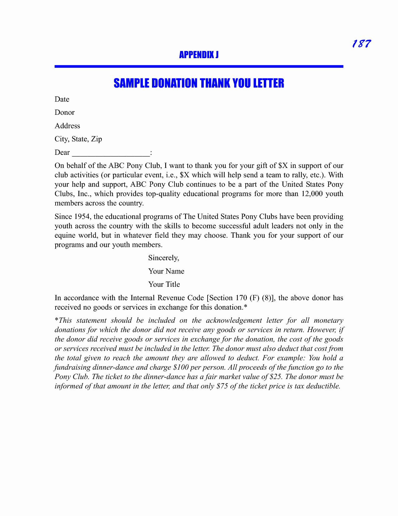 Donor Thank You Letter Template - Scholarship Guidelines Template Fresh Donation Thank You Letters