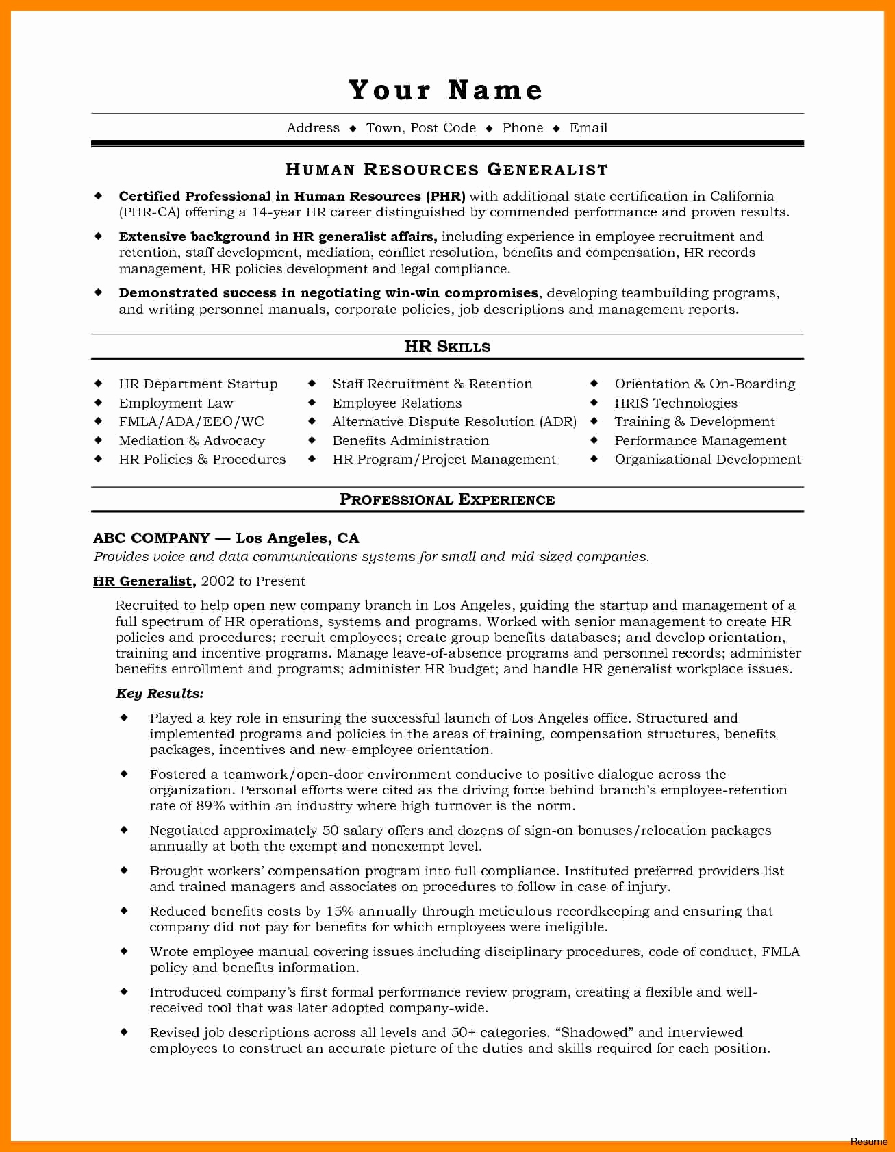 Compliance Letter Template - Senior Executive Cover Letter Examples Inspirational Hr Resume