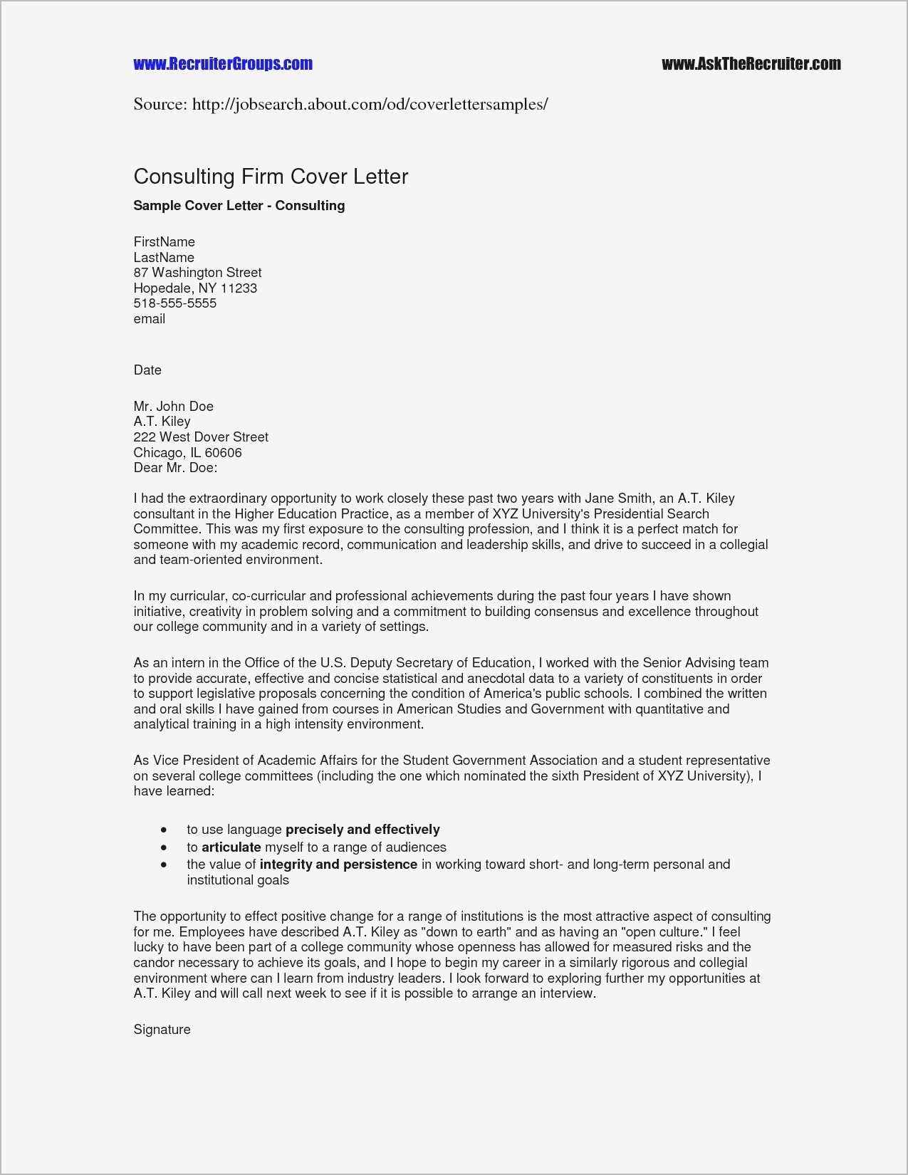 Nice Short Reference Letter Template Photos Short Reference