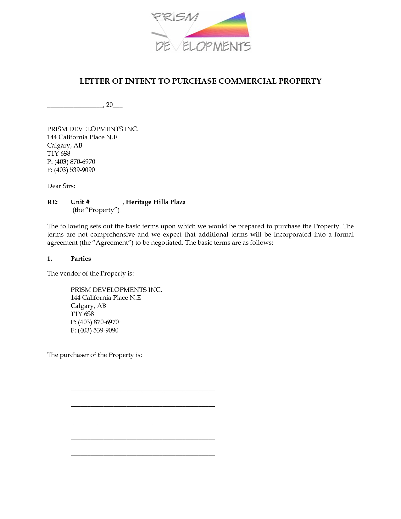 Letter Of Intent to Sell House Template - Simple Letter Intent to Purchaserty High Real Estate Free