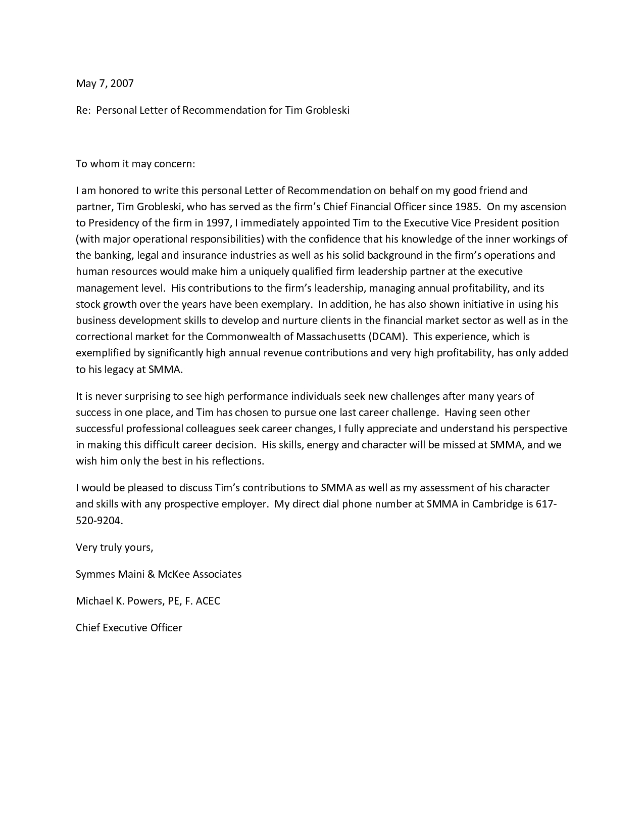 Letter Of Recommendation for A Friend Template - Simple Reference Letter for A Friend Letter format formal