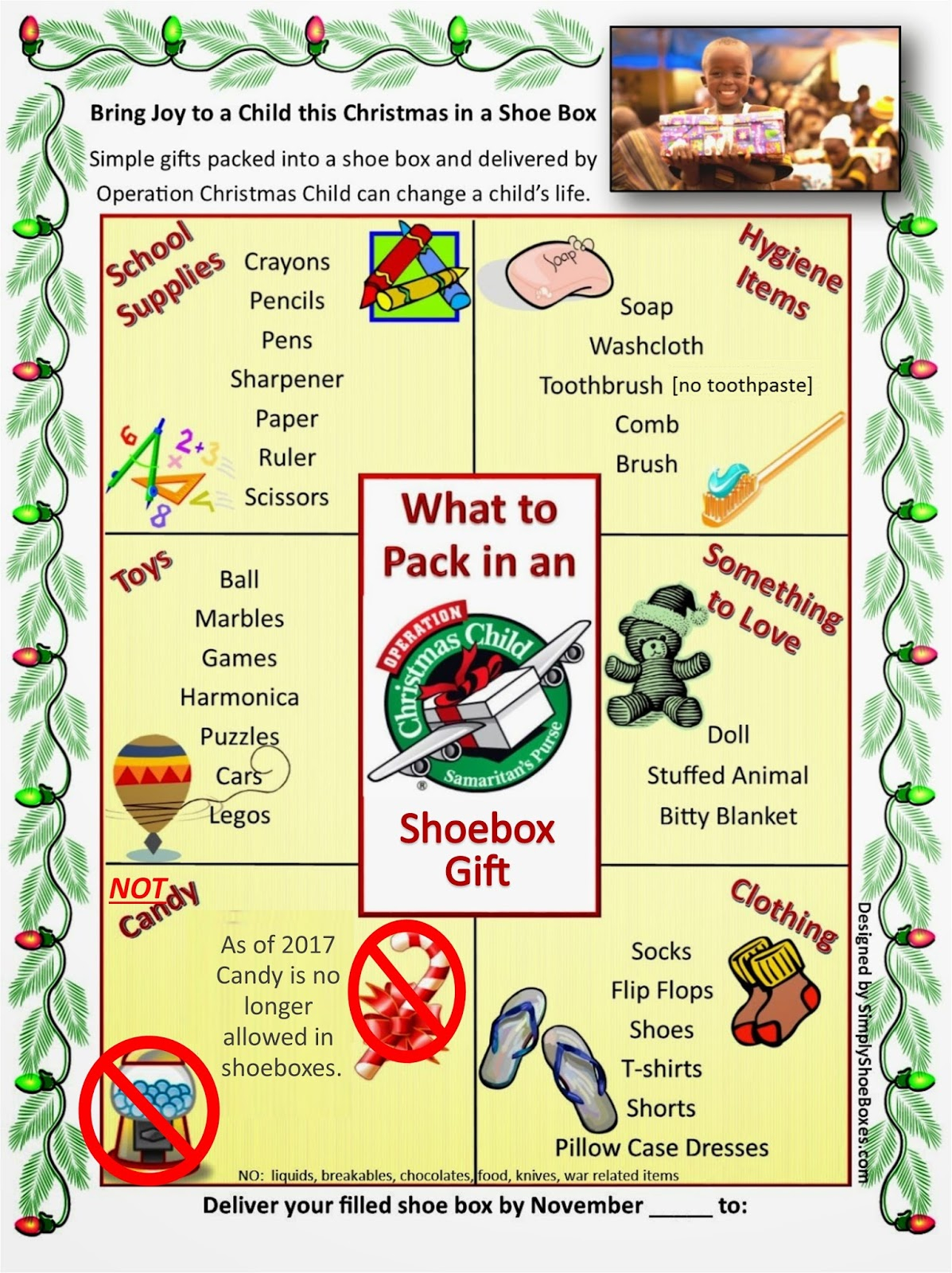 Operation Christmas Child Letter Template - Simply Shoeboxes October 2014