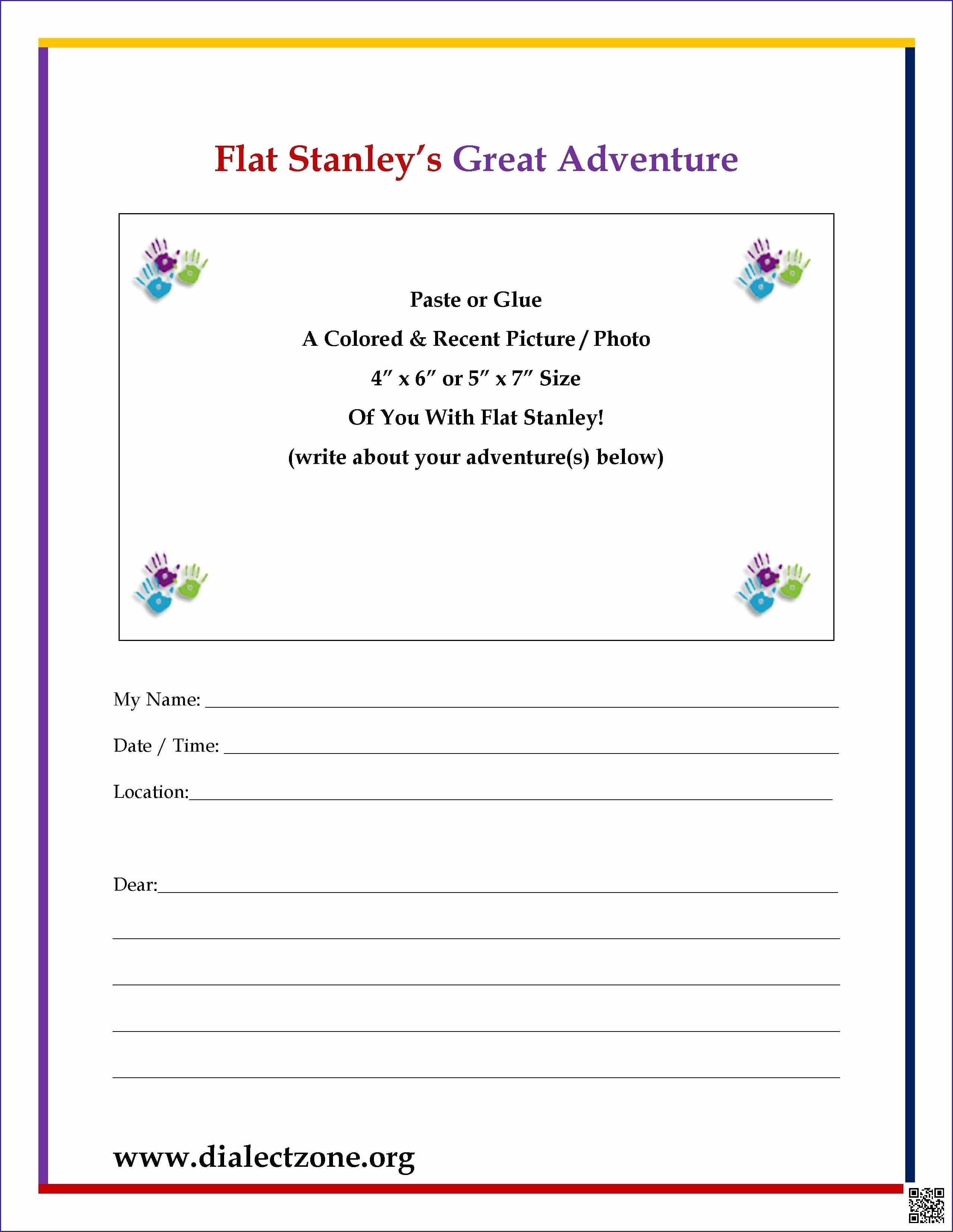 Flat Stanley Letter Template - soft Corporate Offer Template