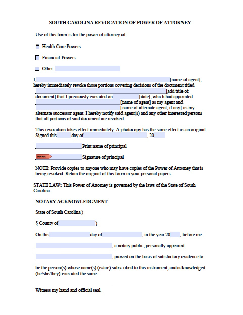 Free Temporary Guardianship Letter Template - south Carolina Minor Child Power Of attorney form Power Of